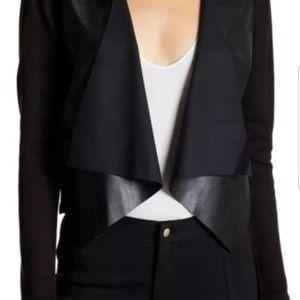 Calvin Klein Faux leather Cascade  Cardigan